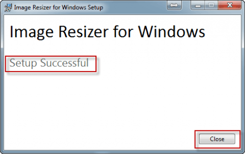 Установили программу Image Resizer for Windows в Windows 7 - 10