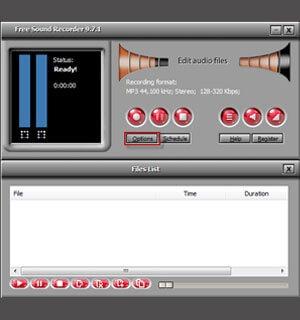 Запись звука с микрофона используя программу Free Sound Recorder