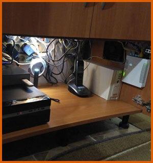 Домашняя мини серверная в шкафу, версия 2