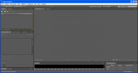 Окно Adobe Audition CS5 в Windows - 1