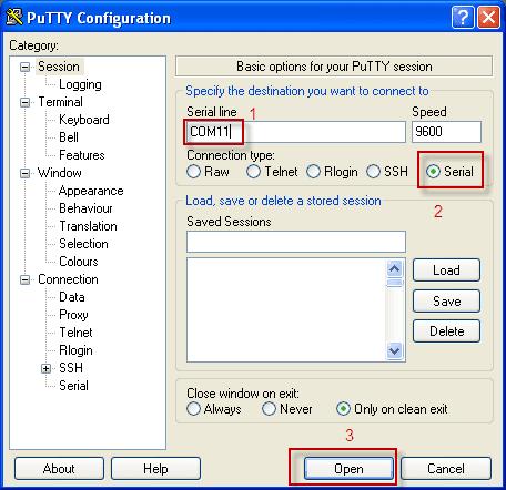 Putty - подключаемся по COM порту к модему Huawei e1550