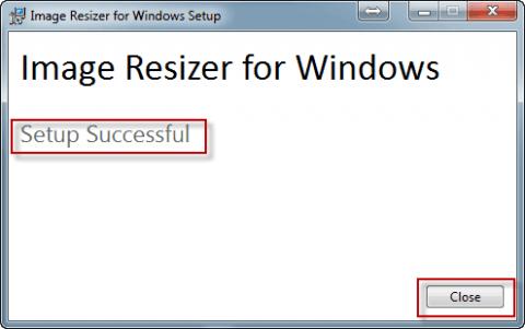 Установили программу Image Resizer for Windows в Windows 7 - 10