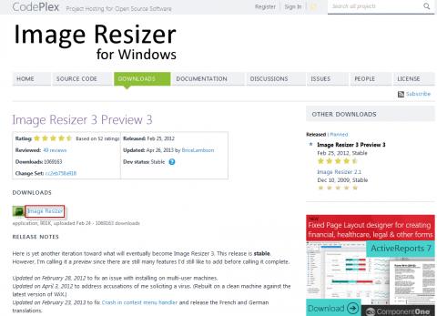 Скачиваем программу Image Resizer for Windows с официального сайта - 2