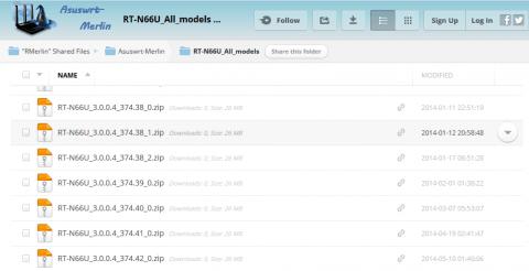 Скачиваем прошивку на Asus RT-N66U от Мерлина с его сайта